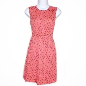 Kate Spade Pink NWT Leopard Dot Pleated Dress